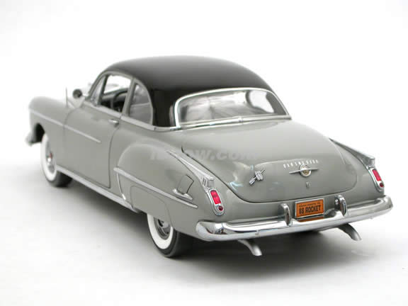 1950 Oldsmobile Rocket 88 diecast model car 1:18 scale die cast by ERTL Authentics - Grey with Blacktop 39402