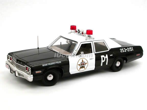1974 Dodge Monaco Police Car diecast model car 1:18 scale die cast by Ertl - 39316