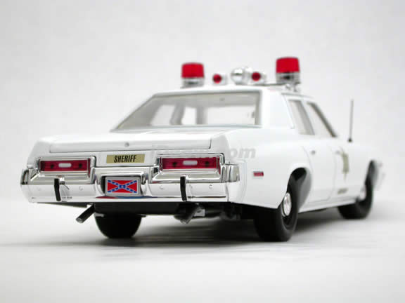 1974 Dodge Monaco Police Car diecast model car The Dukes of Hazzard 1:18 scale die cast by Ertl - White 39406