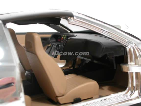 1983 Knight Rider KITT diecast model car 1:18 scale die cast by Ertl - Chrome