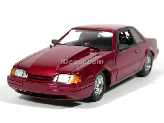1989 Ford Mustang 5.0 LX diecast model car 1:18 scale die cast by GMP - Red 1 of 1000
