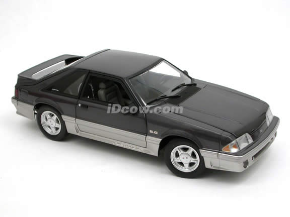 1992 Ford Mustang GT diecast model car 1:18 scale die cast by GMP - G1801818 Dark Grey