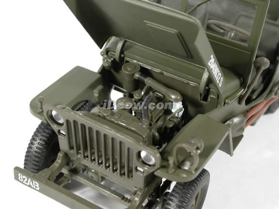 Jeep Willys World War II diecast model car 1:18 scale die cast by Gate