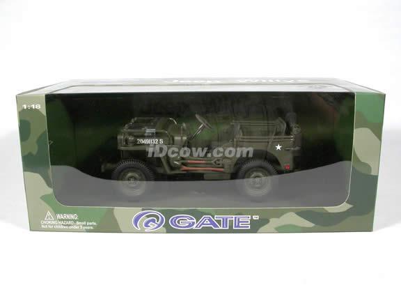 Jeep Willys World War II diecast model car 1:18 scale die cast by Gate