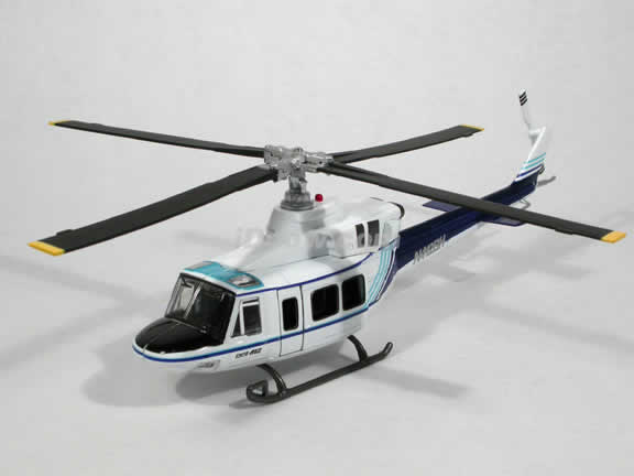 Bell 412 Helicopter diecast model 1:48 scale die cast from NewRay - White and Blue