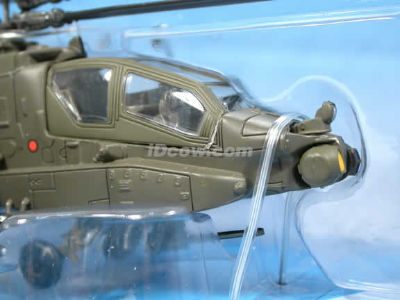 Apache AH-64 Helicopter diecast model 1:55 scale die cast from NewRay - Military Green