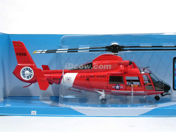 Eurocopter Dauphin HH-65A U.S. Coast Guard Helicopter diecast model 1:48 scale die cast from NewRay - 25647