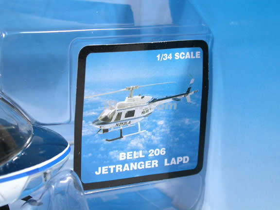 Bell 206 Jetranger LAPD Helicopter diecast model 1:34 scale by NewRay - 25737