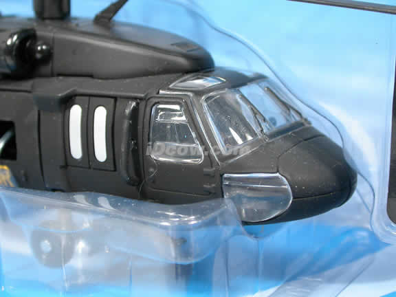 Black Hawk UH-60 Helicopter diecast model 1:60 scale die cast from NewRay - Black