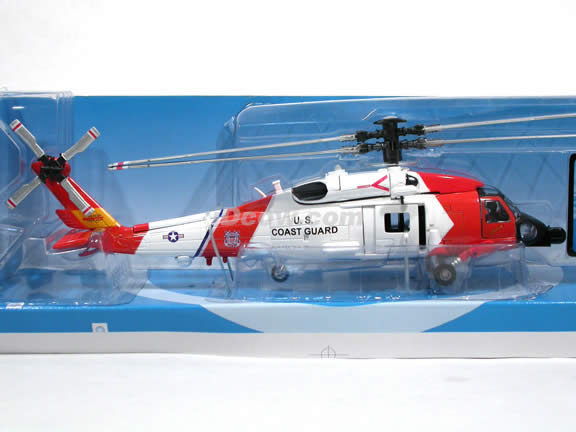 Sikorsky HH-60J Jayhawk U.S. Coast Guard Helicopter diecast model 1:60 scale die cast from NewRay - 25597