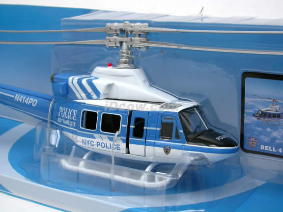 Bell 412 NYPD Helicopter diecast model 1:48 scale die cast from NewRay - 25537