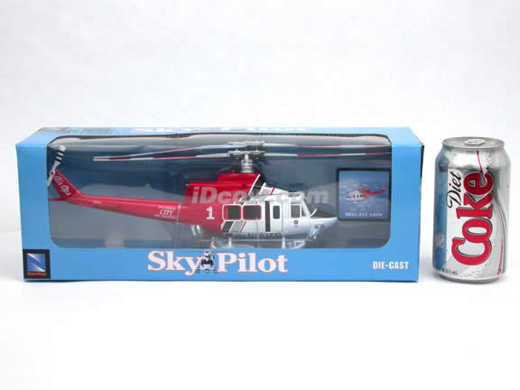Bell 412 LAFD Helicopter diecast model 1:48 scale die cast from NewRay - 25677
