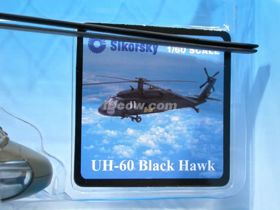 Black Hawk UH-60 Helicopter diecast model 1:60 scale die cast from NewRay - Green