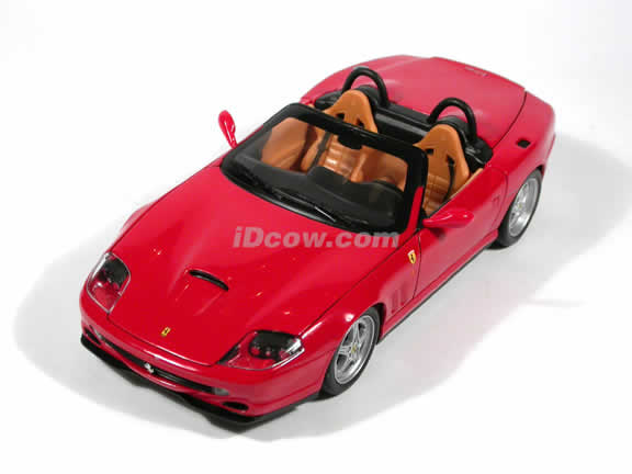 Ferrari 550 Barchetta Pininfarina diecast model car 1:18 die cast by Hot Wheels - Red