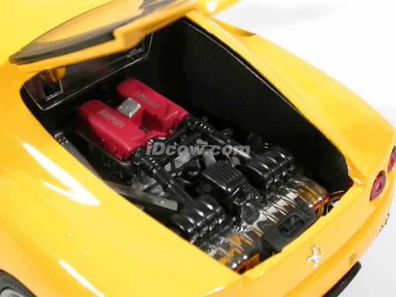2002 Ferrari 360 Modena diecast model car 1:18 die cast by Hot Wheels - Yellow