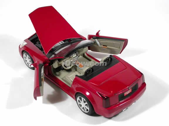2004 Cadillac XLR diecast model car 1:18 die cast by Hot Wheels - Red