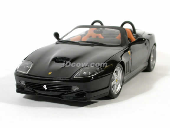 Ferrari 550 Barchetta Pininfarina diecast model car 1:18 die cast by Hot Wheels - Black
