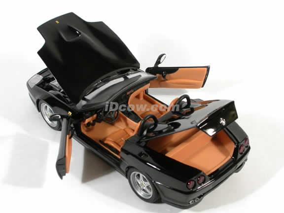 Ferrari 550 Barchetta Pininfarina diecast model car 1:18 die cast by Hot Wheels - Black