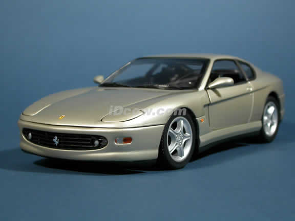 2001 Ferrari 456 M diecast model car 1:18 die cast by Hot Wheels - Warm Silver