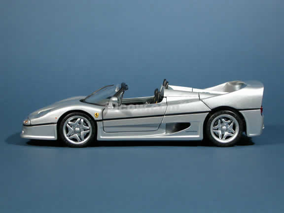 1995 Ferrari F50 diecast model car 1:18 die cast by Hot Wheels - Silver