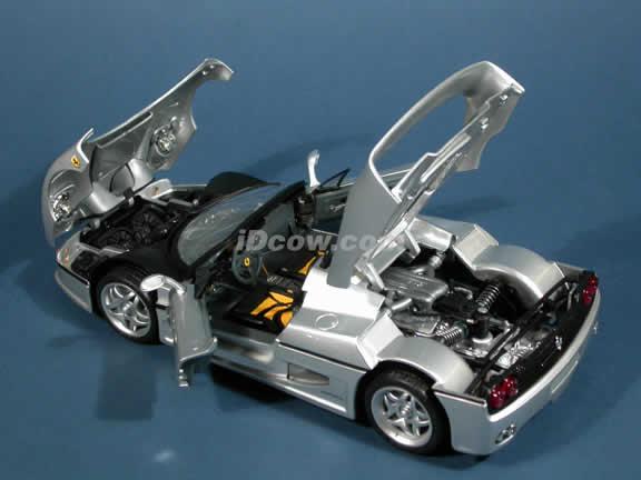 1995 Ferrari F50 diecast model car 1:18 die cast by Hot Wheels - Silver
