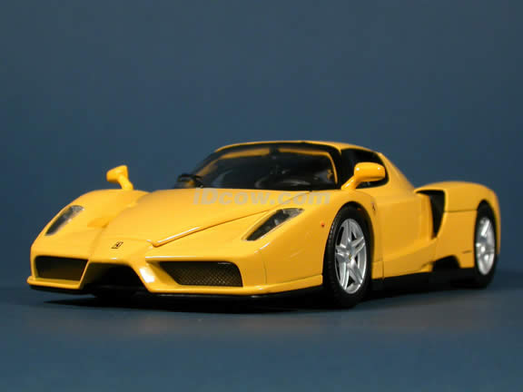 2002 Ferrari Enzo diecast model car 1:18 scale die cast by Hot Wheels - Yellow