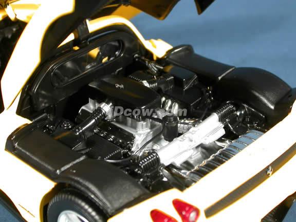 2002 Ferrari Enzo diecast model car 1:18 scale die cast by Hot Wheels - Yellow