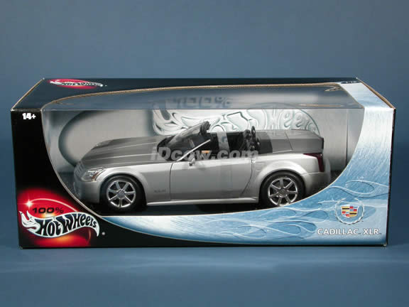 2004 Cadillac XLR diecast model car 1:18 scale die cast by Hot Wheels - Silver