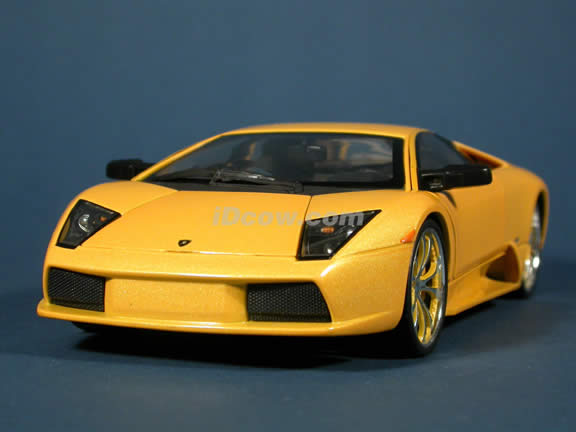 Lamborghini Murcielago diecast model car 1:18 scale die cast by Whips West Coast Customs Hot Wheels - Yellow