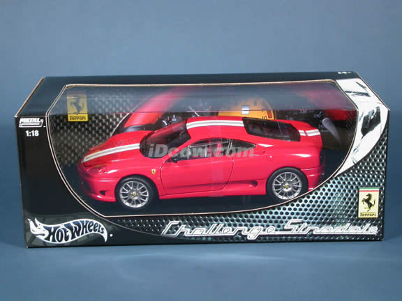 2004 Ferrari 360 Challenge Stradale diecast model car 1:18 scale die cast by Hot Wheels - Red