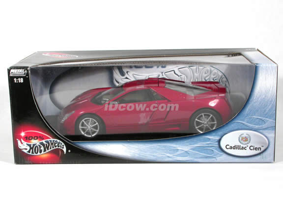 Cadillac model Cien V12 Concept diecast model car 1:18 scale die cast by Hot Wheels - Red