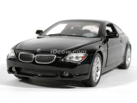 2004 BMW 645Ci diecast model car 1:18 scale die cast by Hot Wheels - Black