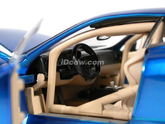 Ferrari 360 Modena Whips diecast model car 1:18 scale die cast by Hot Wheels - Candy Blue