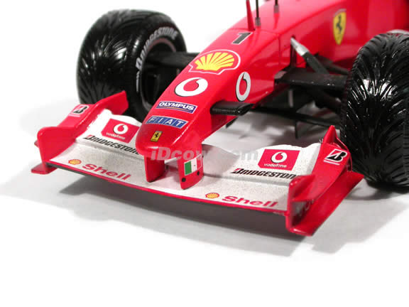 2003 Ferrari Formula One F1 - Michael Schumacher Weathered diecast model race car 1:18 scale die cast by Hot Wheels - Limited Editon