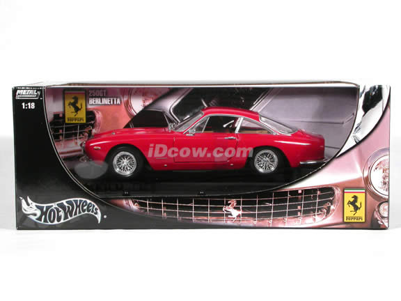 1962 Ferrari 250 GT Berlinetta diecast model car 1:18 scale die cast by Hot Wheels - Red