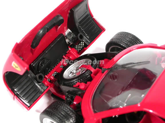 1989 Ferrari F40 diecast model car 1:18 scale die cast by Hot Wheels - Red