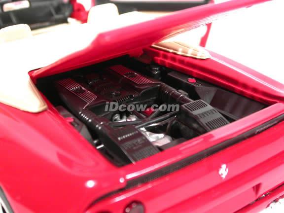 1996 Ferrari 355 diecast model car 1:18 scale Spider by Hot Wheels - Red Spider