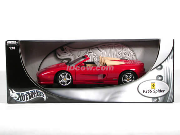 1996 Ferrari 355 diecast model car 1:18 scale Spider by Hot Wheels - Red Spider
