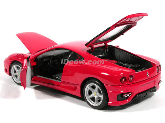 2004 Ferrari 360 Modena diecast model car 1:18 scale die cast by Hot Wheels - Red