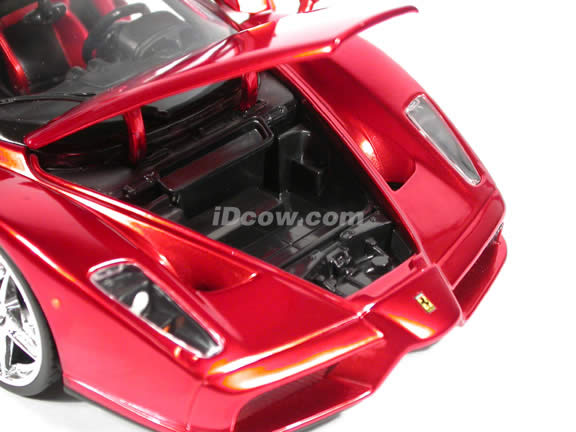 2003 Ferrari Enzo Whips diecast model car 1:18 scale die cast by Hot Wheels - Candy Apple Red