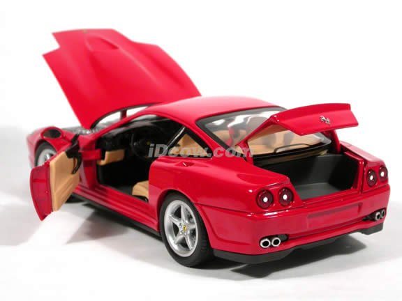 2001 Ferrari 550 Maranello diecast model car 1:18 scale die cast by Hot Wheels - Red