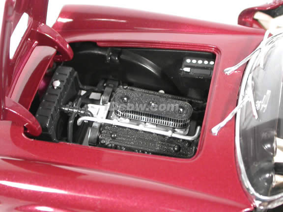 1960 Ferrari 250 GT California diecast model car 1:18 scale Spider by Hot Wheels - Burgundy Spider