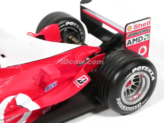 2003 Ferrari F-1 Formula One #2 Rubens Barrichello diecast model car 1:18 scale die cast by Hot Wheels