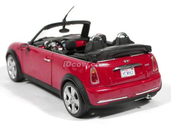 2004 Mini Cooper Cabrio diecast model car 1:18 scale die cast by Hot Wheels - Red