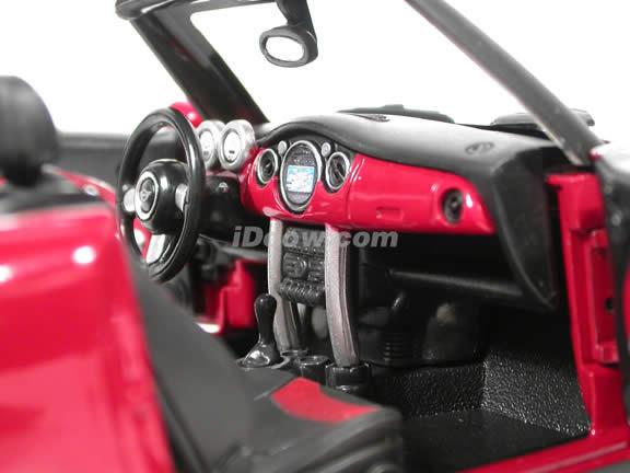 2004 Mini Cooper Cabrio diecast model car 1:18 scale die cast by Hot Wheels - Red