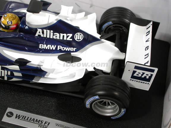 2004 Williams Formula One F1 BMW FW26 #4 Ralf Schumacher diecast model car 1:18 scale die cast by Hot Wheels