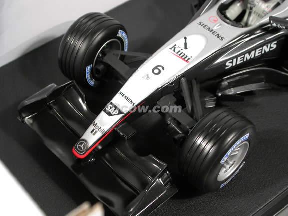 2004 McLaren Formula One F1 MP4-19 #6 Kimi Raikkonen diecast model car 1:18 scale die cast by Hot Wheels