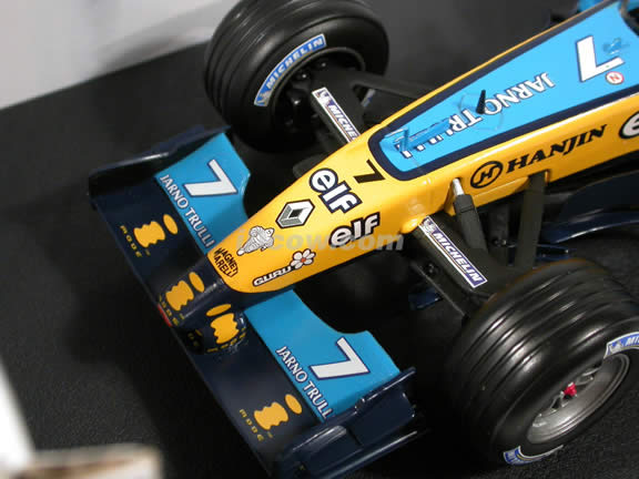 2004 Renault Formula One F1 R24 #7 Jarno Trulli diecast model car 1:18 scale die cast by Hot Wheels
