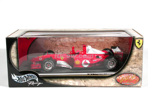 2004 Ferrari Formula One F1 #1 Michael Schumacher Sakhir/Bahrain diecast model car 1:18 scale die cast by Hot Wheels - Limited Edition