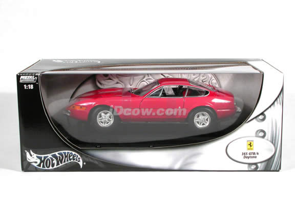 1970 Ferrari 365 Daytona diecast model car 1:18 scale GTB/4 by Hot Wheels - Red